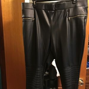 Pants - New faux leather, stretch pull-on pants